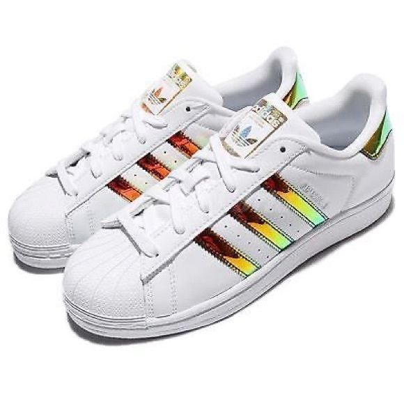 Adidas Superstar Gold Iridescent Athletic Sneaker